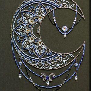 """""""Luna"""". Kit ricamo a perline"""