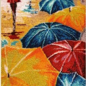 """""""Colori della pioggia"""". Kit ricamo a perline"""