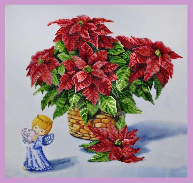 Stella Di Natale Con Perline.La Stella Di Natale Kit Ricamo A Perline
