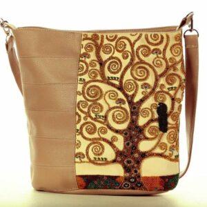 """""""L'albero della vita"""" di Gustav Klimt. Kit-Borsa ricamo a perline"""