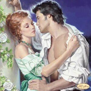 """""""Amore sotto la luna"""". Schema ricamo a perline"""