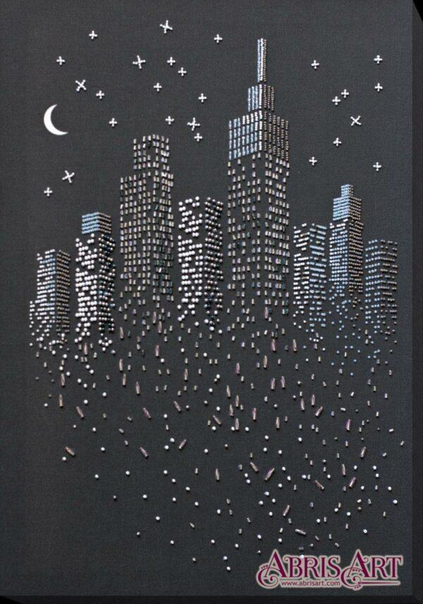 """""""Alla luce della luna"""". Kit ricamo a perline"""